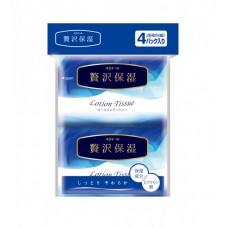 Платочки бумажные экстрауспокаивающие elleair PREMIUM LOTION (4 карманные упаковки 14 шт)