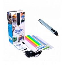 Профессиональная 3D-ручка 3Doodler Create - ГОЛУБОЙ МЕТАЛЛИК