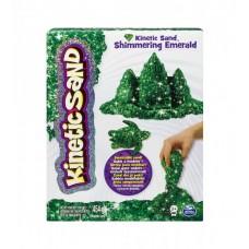 Песок для детского творчества - KINETIC SAND METALLIC (зеленый)