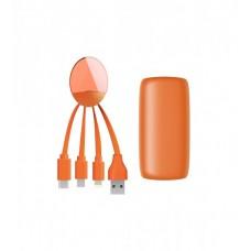 Портативная батарея XOOPAR - WEEKENDER (оранжевая, 5000 мАч, с универсальным кабелем)