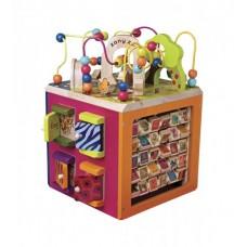Развивающая деревянная игрушка - ЗОО-КУБ
