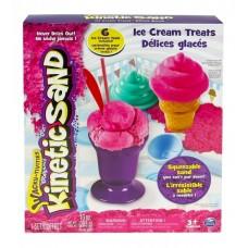 Набор песка для детского творчества - KINETIC SAND ICE CREAM (розовый)