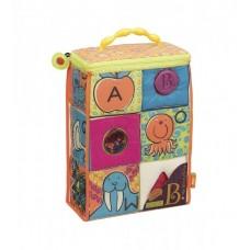 Развивающие мягкие кубики-сортеры ABC