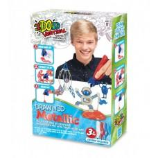 Набор для детского творчества с 3D-маркером - МЕТАЛЛИК