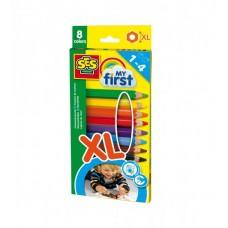 Набор восковых цветных карандашей - РАДУГА (8 цветов)