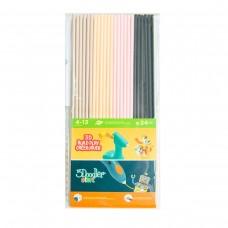 Набор стержней для 3D-ручки 3Doodler Start - МИКС (бежевый, персиковый, розовый, черный)