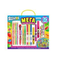 Ароматный набор для творчества - МЕГАКРЕАТИВ (фломастеры, карандаши, ручки, маркеры, наклейки)