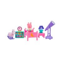 Игровой набор Peppa - СПАЛЬНЯ (фигурка Пеппы, аксессуары, свет)