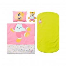 Кроватка для куклы BABY BORN - СПОКОЙНОЙ НОЧИ (звук, с игрушкой и постельным набором)
