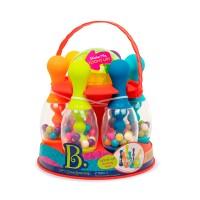 Игровой набор - СВЕРКАЮЩИЙ БОУЛИНГ (красный, 6 кеглей, шар, подставка)