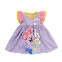 Одежда для куклы BABY BORN - МИЛОЕ ПЛАТЬЕ (фиолетовое)