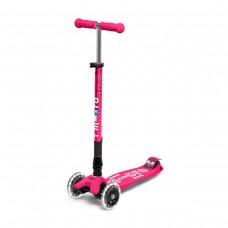 """Самокат MICRO складаний серії Maxi Deluxe LED"""" – Рожевий"""""""