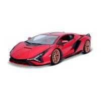 Автомодель - Lamborghini Sián FKP 37 (червоний металік, 1:18)