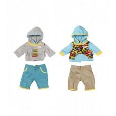 Набор одежды для куклы BABY BORN - СПОРТИВНЫЙ МАЛЫШ (голубая кофточка)